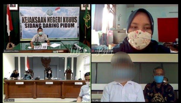 PK Bapas Pati Ikuti Sidang Kasus Anak Secara Daring