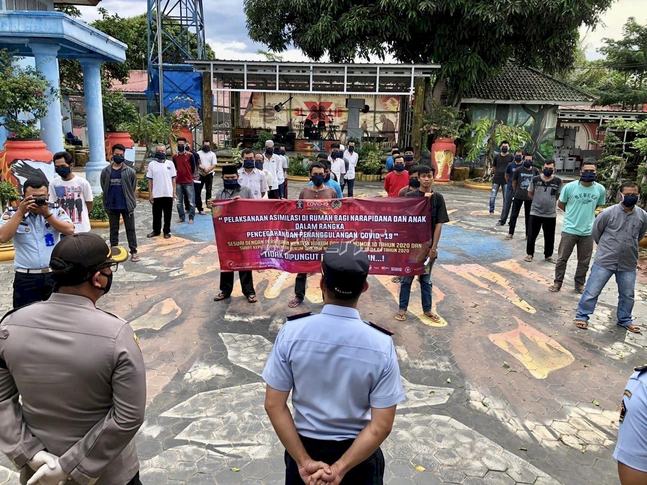 Pulangkan WBP Asimilasi, Lapas Kalianda Gandeng Polres Lampung Selatan