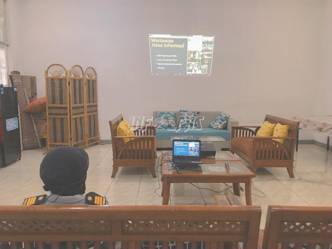 Tim Humas Lapas Kelas IIA Tangerang Ikuti Pelatihan Media Secara Virtual