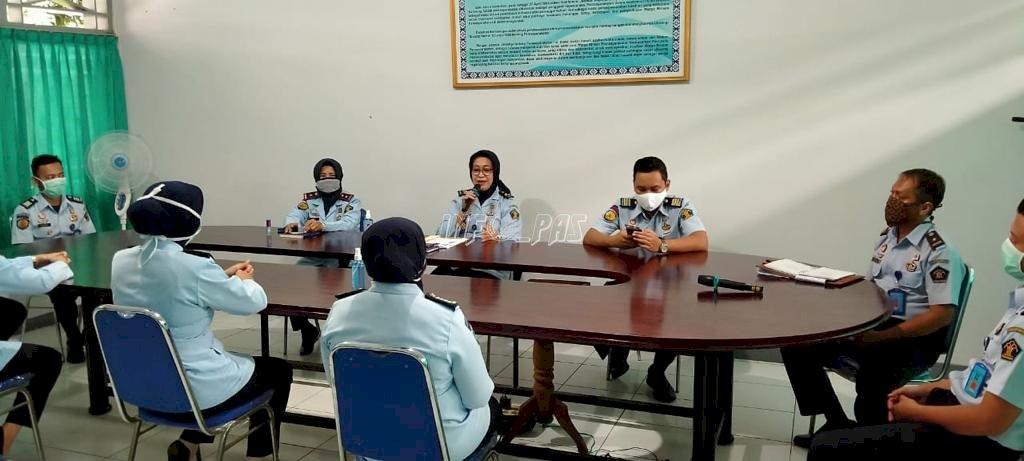 Sambangi Rupbasan Bantul, Kadiv PAS DIY Berikan Penguatan Pembangunan ZI