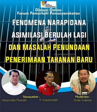 Narapidana Asimilasi Berulah Kembali, Ini Penjelasan Ditjen PAS & FPP