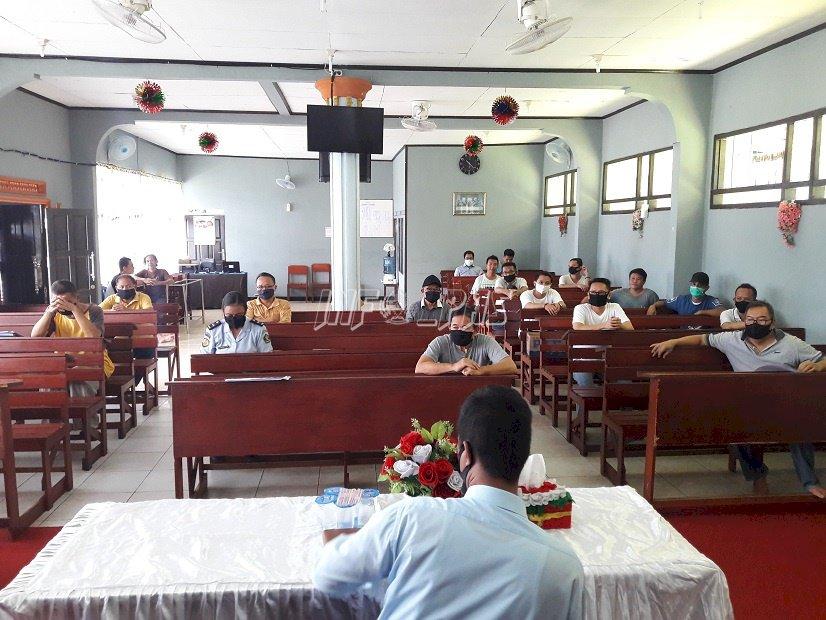 Pembinaan Rohani Kristen di Lapas Palangka Raya Segera Dilanjutkan