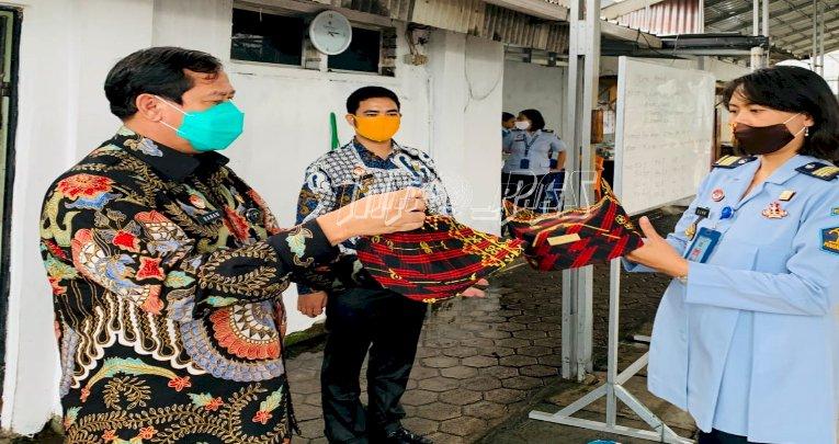 Kakanwil Lampung Puji Tapis WBP LPP Bandar Lampung