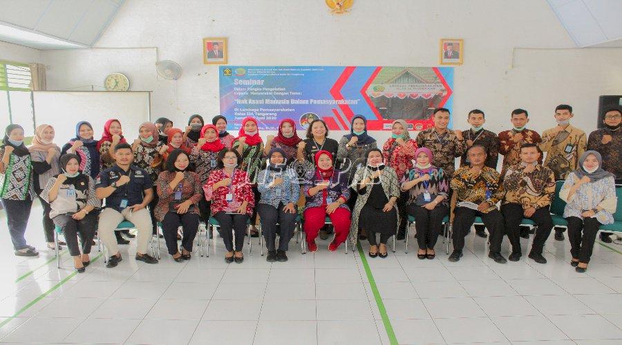 Lapas Kelas IIA Tangerang Ikuti Seminar HAM Bersama Direktur Poltekip