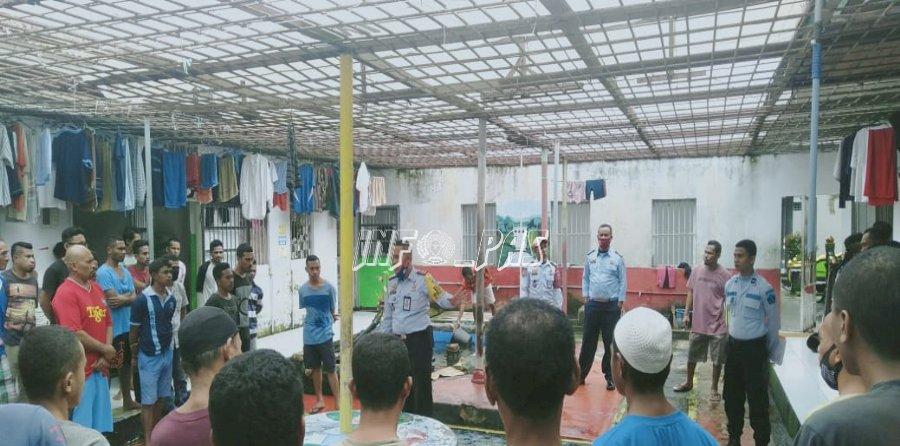 Karutan Ambon Sosialiasikan Penerimaan Tahanan Baru