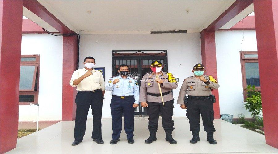 Kalapas & Kapolres Sukamara Bahas Pemindahan Tahanan ke Lapas