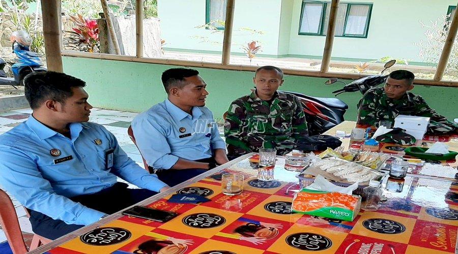 Silaturahmi Dengan Kodim 0615 Jaga Kondusivitas Lapas Kuningan