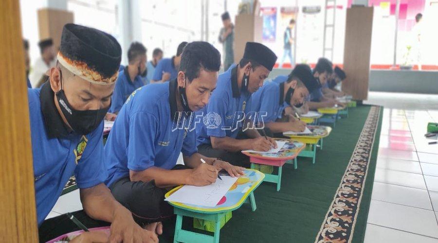 Gandeng Kemenag Lebak, Lapas Rangkasbitung Gelar Pelatihan Kaligrafi