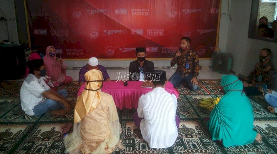 Tahanan Narkotika Akad Nikah di Rutan Bantaeng