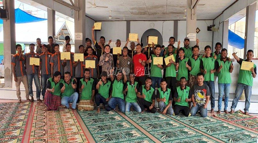 Lulus Pelatihan, WBP Rutan Banda Aceh Terima Sertifikat