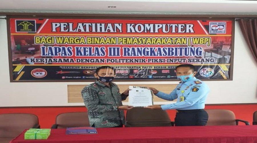 Lapas Rangkasbitung - Politeknik Piksi Input Serang Sepakati PKS Pembinaan WBP