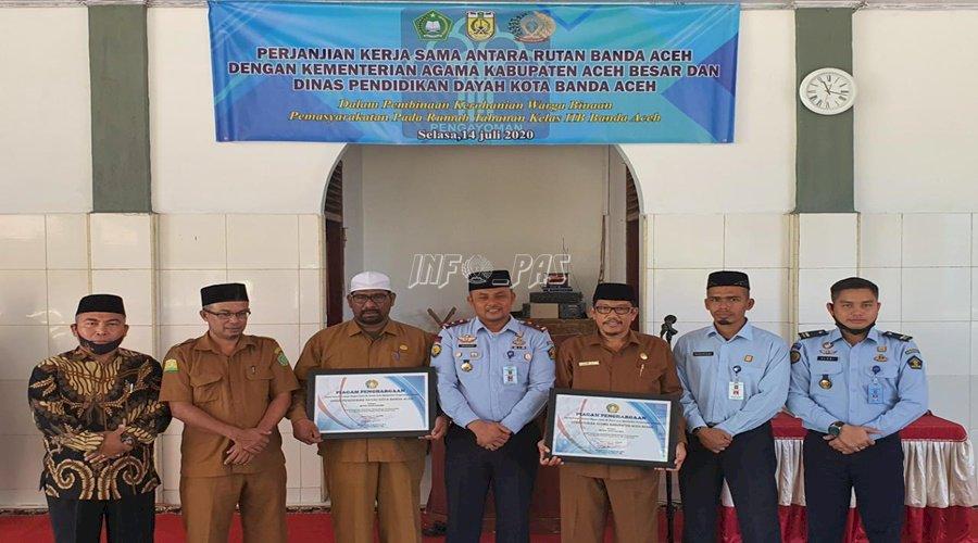 Rutan Banda Aceh Gandeng Dinas Pendidikan dan Dayah Aceh serta Kemenag Aceh Besar