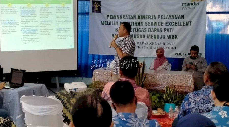 Demi Lolos WBK, Petugas Bapas Pati Dilatih Service Excellent
