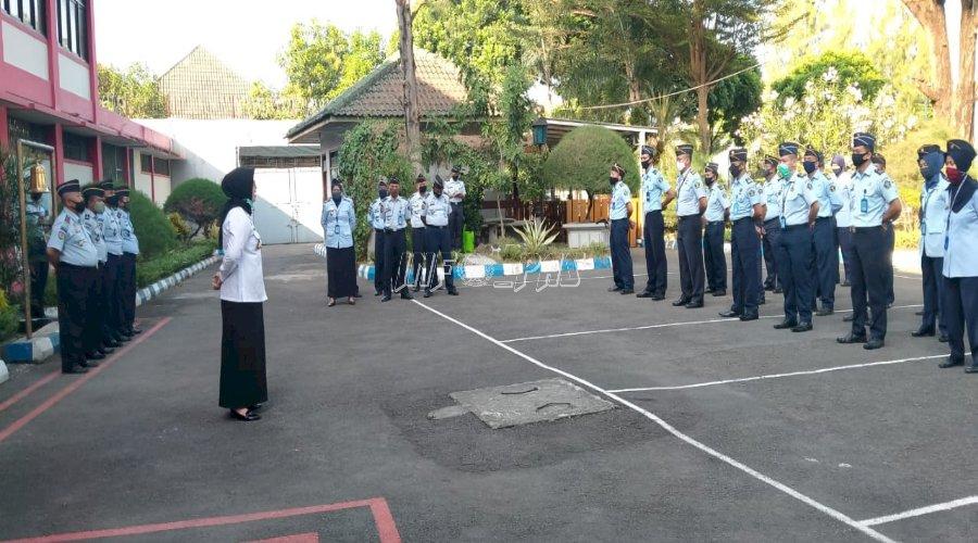 Sambangi Lapas Yogyakarta, Kadiv PAS Pimpin Apel & Buka Pelatihan WBP