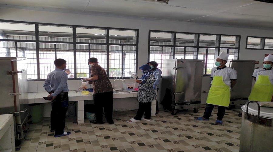 Uji Hygiene & Sanitasi Dapur, Dinkes Kab. Lebak Puji Lapas Rangkasbitung