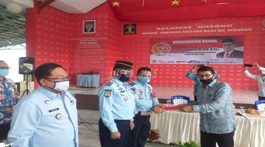 Wakil Ketua Komite I DPD RI Kunjungi Rutan Manado
