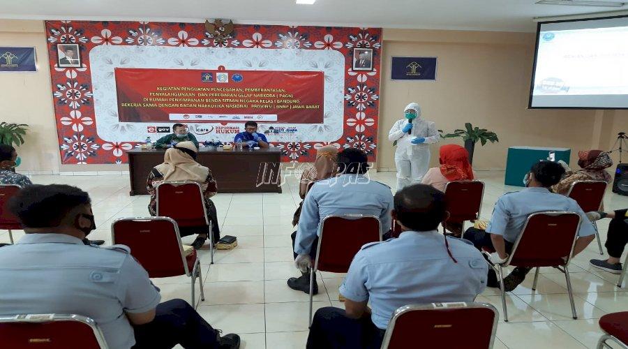 Rupbasan Bandung Sosialisasikan P4GN dan Gelar Tes Urin