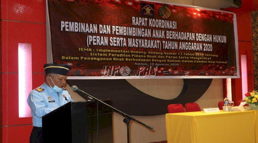 Divisi PAS Maluku Gelar Rakor Pembinaan Masyarakat terkait UU SPPA