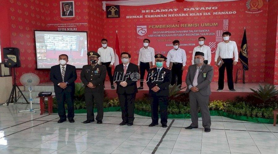 Pemberian RU di Rutan Manado Dihadiri Wakil Walikota Manado