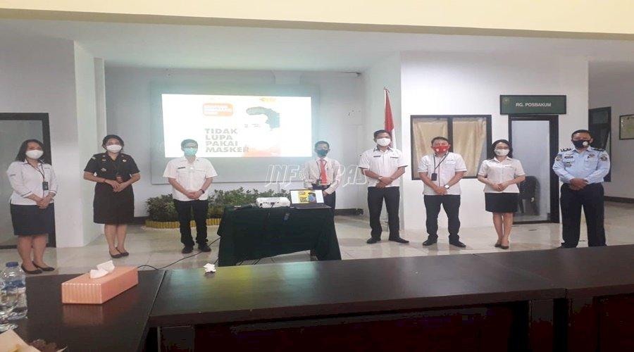 Rutan Manado Hadiri Rakor Penegak Hukum Era Normal Baru