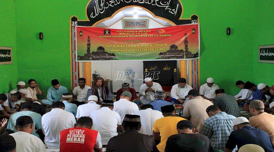 Peringati 1 Muharram, Rutan Ambon Gelar Doa Bersama