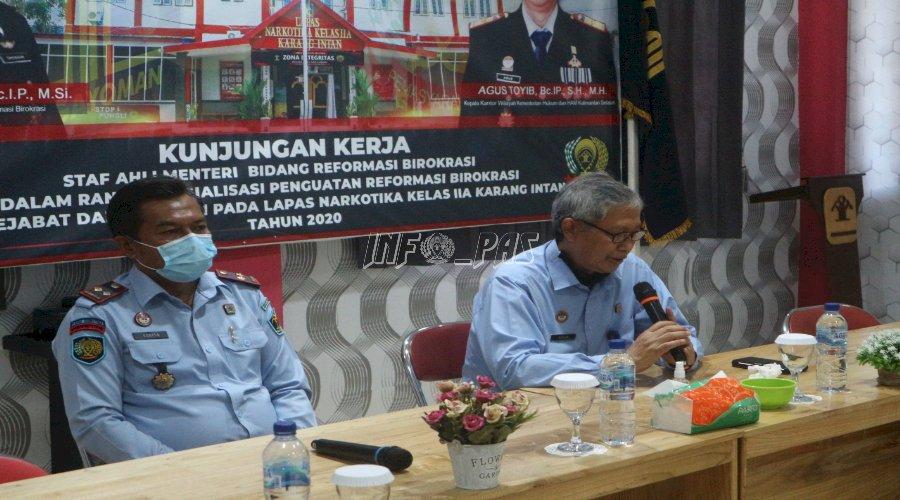 Kakanwil Kalsel Beri Wejangan di LPN Karang Intan Menuju WBK 2020