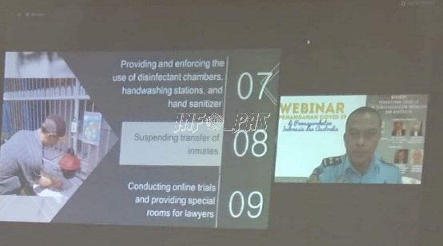 LPN Jakarta Ikuti Webinar Penanganan COVID-19 di Pemasyarakatan Indonesia & Australia