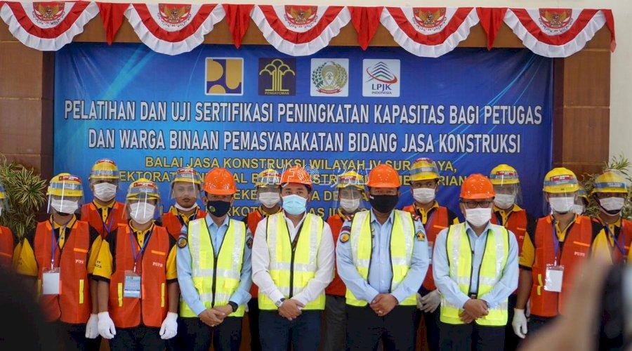 WBP & Petugas PAS DIY Dibekali Pelatihan Bidang Jasa Konstruksi