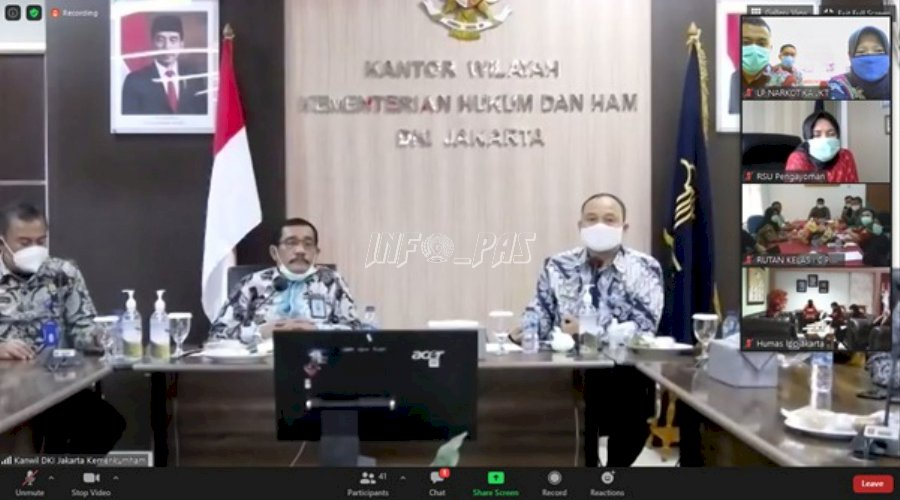 LPN Jakarta Ikuti Videoconference Hasil Survei Penilaian WBK & Penanganan COVID-19