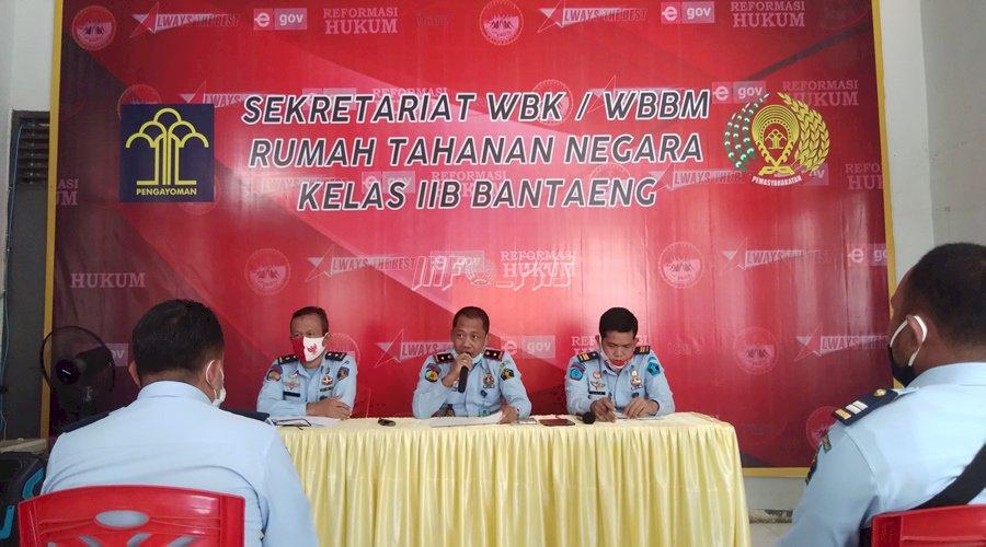 Tim ZI Rutan Bantaeng Lakukan Evaluasi IPK / IKM