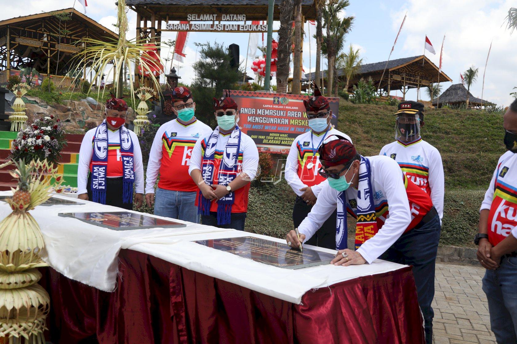 Menkumham Resmikan SAE dan Bike Park Lapas Malang