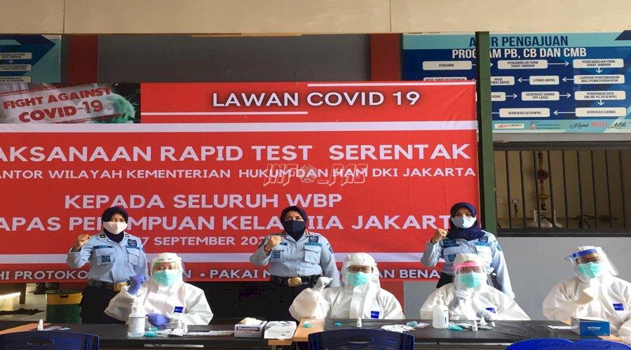 192 WBP LPP Jakarta Jalani Rapid Test