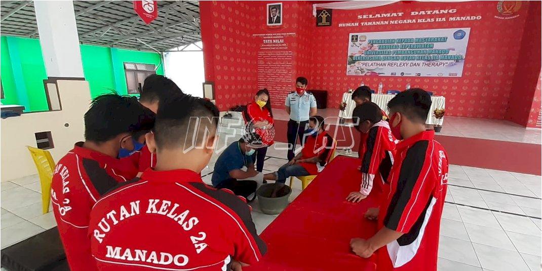 10 WBP Rutan Manado Ikuti Pelatihan Refleksi dan Terapi