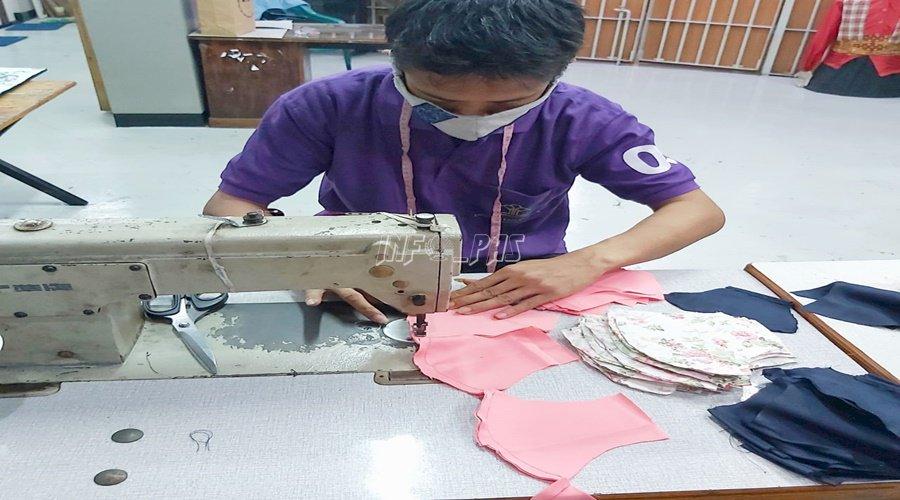 Melihat Produksi Masker Karya WBP LPN Jakarta