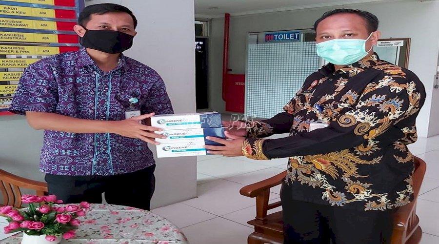 LPN Jakarta Terima Alat Rapid Tes dari KCP BJB Pondok Kelapa