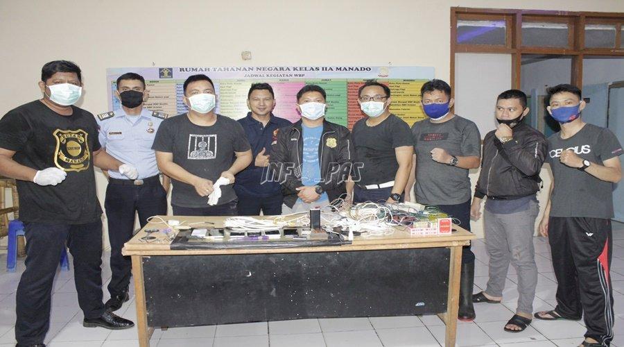 Satops Patnal Rutan Manado Geledah Blok & Kamar Hunian WBP
