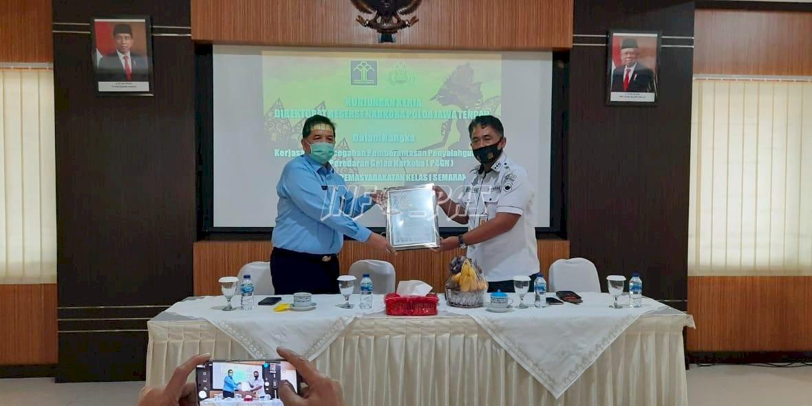 Sukses Gagalkan Peredaran Narkoba, Lapas Semarang Terima Penghargaan Kapolda Jateng