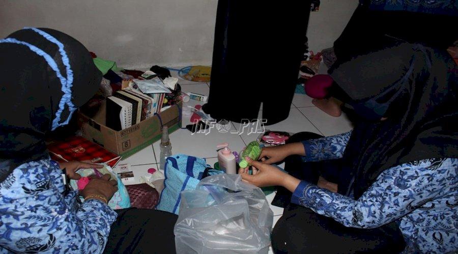 Satgas Kamtib LPP Jakarta Sterilkan Blok Hunian dari Halinar