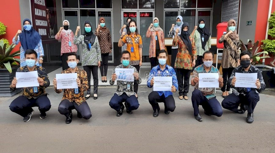 Petugas dan WBP LPN Jakarta Beri Dukungan Tenaga Medis
