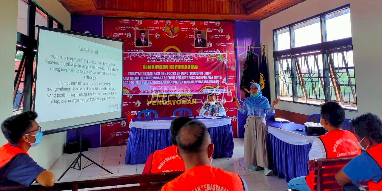 Bapas Sampit Gandeng Pokmas Wujudkan Kesejahteraan Psikologis Klien