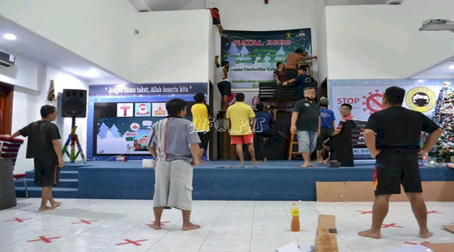 Sambut Natal, WBP Perindah Gereja El-Shaddai LPN Jakarta
