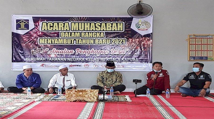 Sambut Tahun 2021, Rutan Kuala Kapuas Gelar Muhasabah