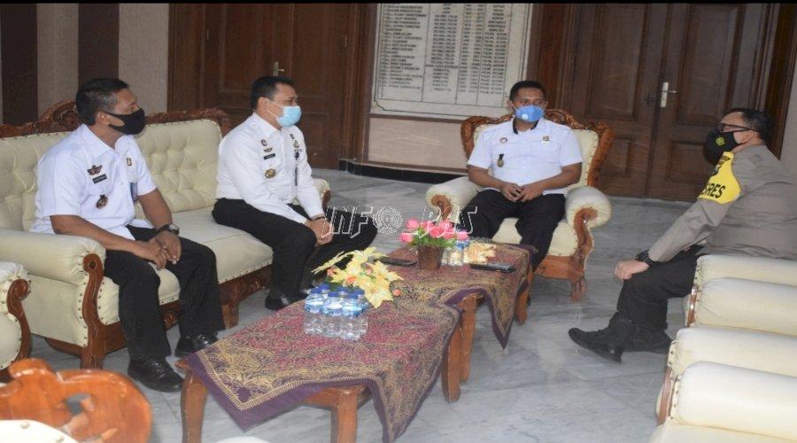 Jalin Silaturahmi, Kalapas Bondowoso Kunjungi Polres dan Kodim
