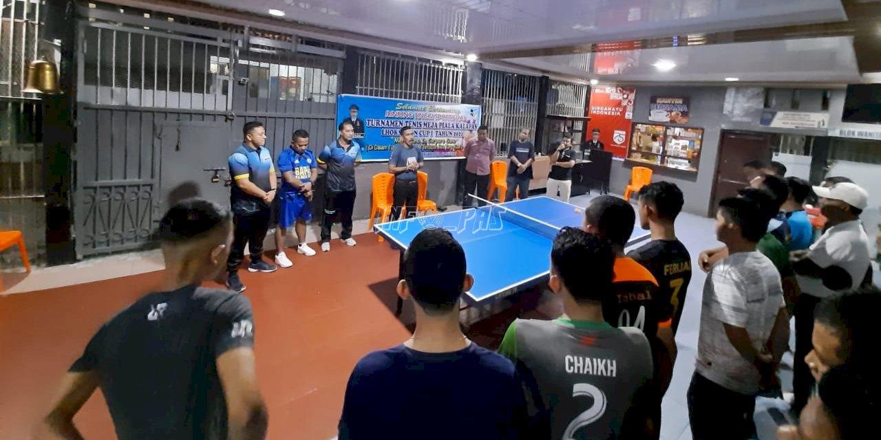Lapas Lhoksukon Gelar Lomba Tenis Meja Piala Kalapas Lhoksukon