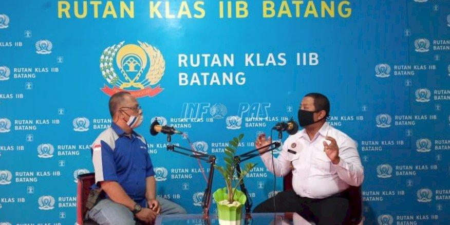 Sambut Hari Pers Nasional, Rutan Batang Bincang Bersama Ketua PWI Batang