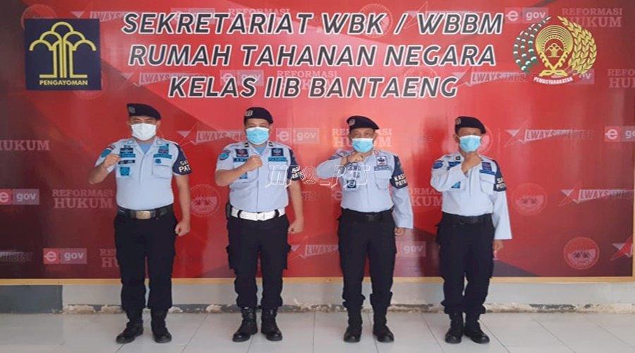 6 Anggota Satops Patnal Rutan Bantaeng Dikukuhkan Secara Virtual