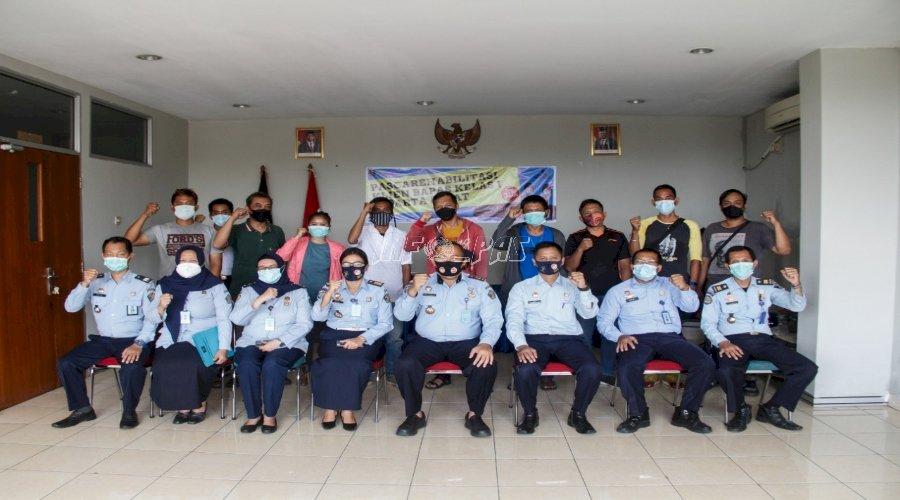 Bapas Jakarta Pusat Rampungkan Kegiatan Pascarehabilitasi Klien
