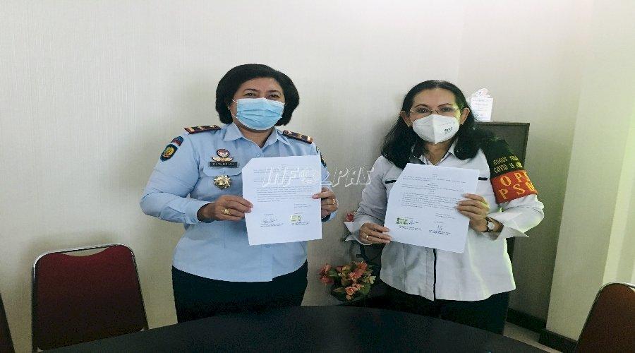 LPKA Ambon Jalin PKS Kesehatan Anak dengan Dinkes Kota Ambon