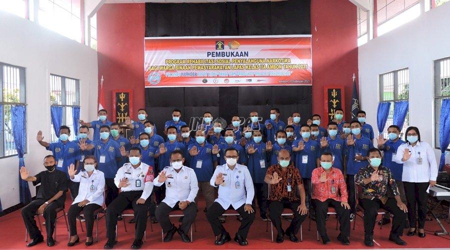 Buka Rehabilitasi Narkoba di Lapas Ambon, Kadivpas inginkan Output & Outcome Jelas