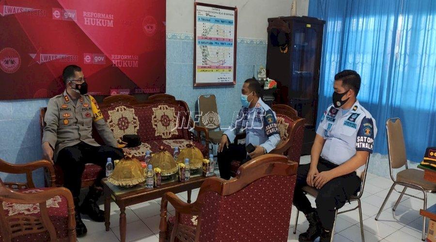 Jalin Koordinasi, Rutan Bantaeng Terima Kunjungan Kapolres Bantaeng